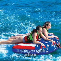 Wow Watersports Born To Ride Towable 2 Person Deck Gonfleable Boat Tube Water