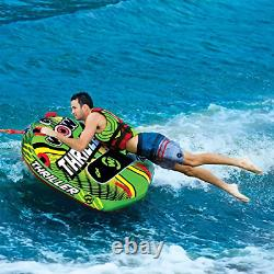 Wow Watersports Thriller Deck Tube Water Towable Tube Inflatable Boat Tube, Wild