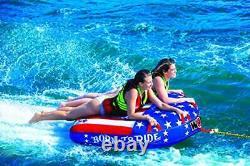 Wow Watersports Ultra Soft Top, Deck Tube Water Towable Tube, (born To Ride 2p)