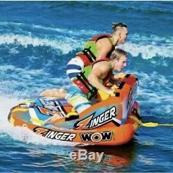 Wow Zinger 2 Personne Towable Tube New Summer Beach Eau Libre Float Rivière Nouvelle
