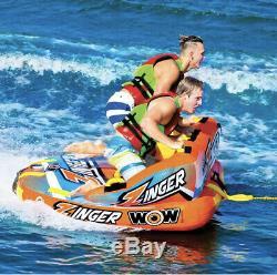 Wow Zinger 2 Personnes Towable Tube Neuf Sans Boîte Summer Beach Free Water Float
