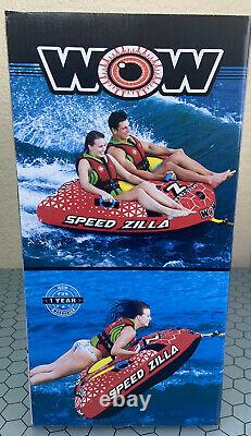 Wow-watersports Speedzilla 1-2 Rider Person Towable Gonflable Tube D'eau Float