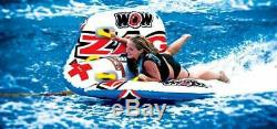 Zig Zag Gonflable Tractable Sport Aquatique Tube 1 Ou 2 Riders Turn Jump Barrell Rouleau